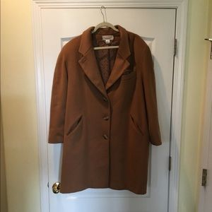 Brown Wool Dress Coat by Bryant Park Size 20